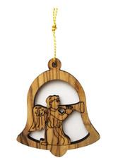 Bethlehem Olive Wood Angel Ornament (LZO-135)