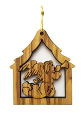 Bethlehem Olive Wood Angel Ornament (LZO-136)
