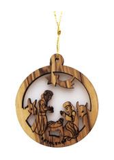 Bethlehem Olive Wood Nativity Ornament (LZO-137)