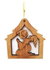 Bethlehem Olive Wood Angel Ornament (LZO-143)