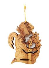 Bethlehem Olive Wood Angel Ornament (LZO-158)