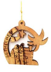 Bethlehem Olive Wood Nativity Ornament (LZO-159)