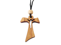 Olive Wood Cross W/Cord 1.6 inches in Height WA-18