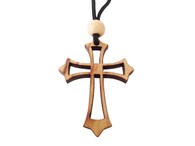 Olive Wood Cross W/Cord 1.6 inches in Height WA-30