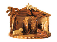 Nativity Set -Medium Detail Scroll Saw 6 Inches Width x 4 Inches Height x 3 Inches Depth