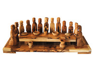 Olive Wood Modern Last Supper 11.7 Inches Width x 3.75 Inches Height x 4 Inches Depth