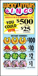 Lucky Letters Bingo 4781