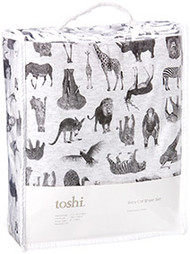 Cot Sheet Set Knit Zoo