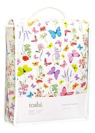 Cot Sheet Set Woven Butterfly