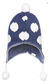Organic Earmuff Clouds Navy