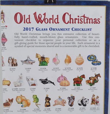 Old World Christmas 2017 Brochure