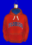 "University of Florida Hoodie Glass Ornament, 4 1/2"", OWC #64403"