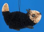 Buri Animal Black White Cat Ornament by BrushArt