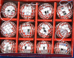 "Mirrored Disco Ball Ornaments, 12 pc Set, Mini , 1 1/4"", #KAC1547"
