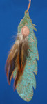 "Indian Feather Copper Ornament, 7"", Made in USA #DD3730"