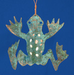 "Frog Copper Ornament, 4"", Made in USA #DD3731"