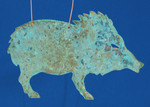 "Javelina Copper Ornament, 5 3/8"", Made in USA #DD3735"