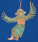 "Kachina Eagle Dancer Copper Ornament, 4 5/8"", Made in USA #DD3736"