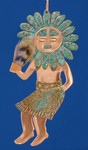 Kachina Sun God Copper Ornament by Dos Damas