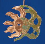 "Moon Sun Copper Ornament, 4 1/4"", Made in USA #DD3740"