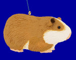 "Guinea Pig Ornament.  Decor, 4 1/4"", break resistant #SL4466"