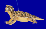 "Horned Lizard Ornament aka Horned Toad, 5 1/2"", break resistant #SL4460"