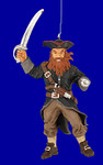 "Red Beard Pirate Ornament, 4 5/8"", break resistant #SL4473"