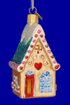 "Cookie Cottage House Glass Ornament, 3 3/4"", OWC #20064"