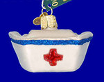 "Nurse's Cap Glass Ornament, 1 5/8 x 2 5/8"", OWC #36146"