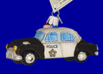 "Police Car Glass Ornament, 2 1/4"" x 4"", OWC #46044"