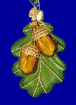"Oak Leaf w/ Acorns Glass Ornament, 3 5/8"", OWC #48023"