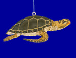 "Green Sea Turtle Ornament, 3 1/2"", break resistant #SL4860"