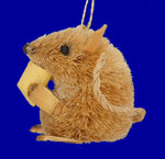 "Buri Animal Mouse Ornament- Brown, 2 1/2"", #JWKA3444"