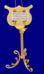 Gold Plated Metal Music Stand Ornament Miniature Music Stand 4.5