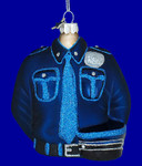 "Police Officer Uniform Ornament, 4"", #MW289358"