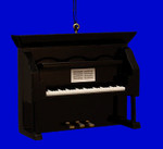 Mini Upright Piano Ornament - Wood, 2 7/8 x 4 Black #BG2279