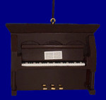 "Mini Upright Piano Ornament - Wood, 2 7/8"" x 4"" Brown #BG5289"