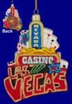 """Las Vegas Ornament, Glass, 5"""", #KAC7503"""