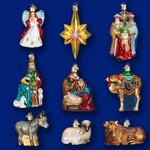 nativity collection Old World Christmas glass ornaments set 14020