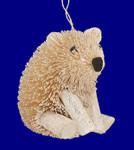 "Buri Glittered White Polar Bear Ornament, 3 1/4"", #JWKA6796"