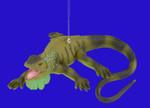 "Iguana Ornament, 4 1/4"", break resistant #SL7598"