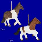 """Wood Horse Ornament, 3 3/4"""" - 4 1/2"""", #CForn70657"""