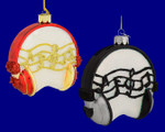 "Headphones Glass Ornament, 4"", #KANB0911"