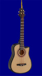 "Mini Acoustic Bass Guitar Ornament - Wood, 5 1/4"", 4 String #BG7892"