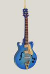 "Mini Electric Guitar Ornament - Wood, 5 1/2"" - Blue #BG7890"