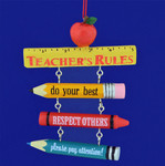 Teachers Rules Christmas Ornament
