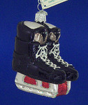"Hockey Skates Glass Ornament, 3 1/2"", OWC #44046"