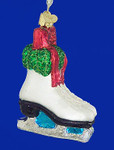 "Holiday Ice Skates Glass Ornament, 4"", OWC #44052"