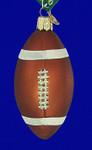 "Football Glass Ornament, 3 3/4"", OWC #44011"