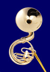 "Mini Sousaphone Ornament - Gold Metal, 2 1/2"" Small #HI571"